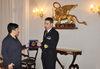 06.11.2015 - Il Vice Sindaco Luciana Colle riceve il comandante della nave Maestrale Giuseppe Rizzi