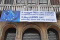 striscione su Ca' Farsetti - sede Municipio
