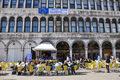 striscione su Piazza San Marco - sede CoE